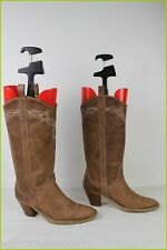 Bottes ANDRE Cuir Marron T 37 TBE