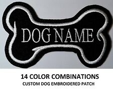 **LOVE IT OR ITS FREE** ONE CUSTOM DOG NAME EMBROIDERED TAG, IRON ON, FREE SHIP