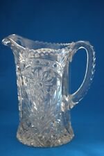 MID CENTURY  IMPERIAL CLEAR GLASS 48 OZ. PITCHER COSMOS  #474