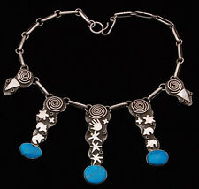 Navajo Handmade by Alex Sanchez Sterling Silver Necklace with Turquoise