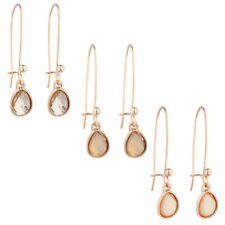 Stone Multi Earring Set 3Pc Lux Accessories Rose Goldtone Teardrop Champagne