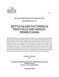 Bottle Glass Factories in Hawley & Tracyville - Christian Dorflinger