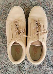 Vans MEN'S (Made for The Makers) Old Skool  Skate Shoes Size 13 beige low tops