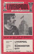 Programme / Programma Liverpool FC v Manchester City FC 16-04-1974