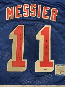Mark Messier Autographed Rangers  Starter Jersey Beckett Coa