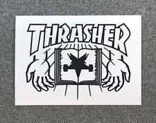 Thrasher Skateboard Sticker 3.5in hands white si