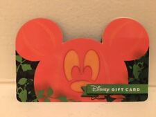 Disney Collectable Gift Card NV Mint Halloween Mickey Jack o Lantern Ears