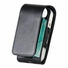 IQOS Elektronische Zigarette PU Flip Cover Case Tasche in schwarz