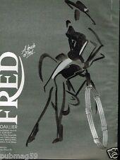 Publicité advertising 1991 Bijou Joaillerie Fred