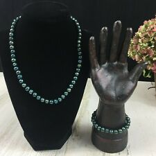 Cultured Tahitian Pearl Necklace & Bracelet Set