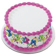 Butterfly Edible Cake Border  - Set of 3 Strips (Butterflies Spring Garden)