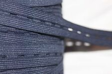 "1 yard Navy Blue buttonhole button hole elastic maternity adjustable 15/16"" 1"""