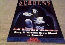 SCREENS VIDEO UK 1993 GARY OLDMAN WINONA RYDER DRACULA CLINT EASTWOOD BRONSON