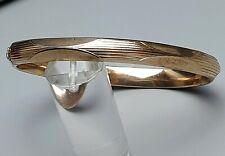 Armreif-Klapparmreif um 1930 - Art Deco Golddoublee punziert - A835