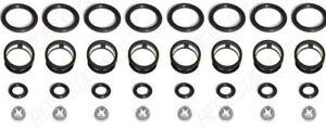 Side Feed Fuel Injector Repair Kit Filters Seals ORings Pintle Caps JECS V8 4.1L