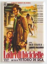 The Bicycle Thief (Italy) Fridge Magnet (2.5 x 3.5 inches) movie poster italian
