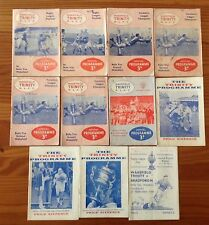 Wakefield Trinity Rugby League Programmes 1960 - 1968