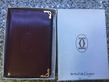 Cartier Leather Jotter Notepad and Address Book