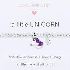Joma Jewellery Girls a little Unicorn CHILDRENS silver charm bracelet & gift bag