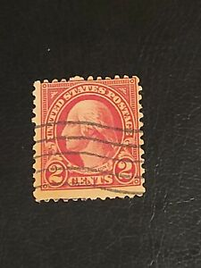Vintage US GEORGE WASHINGTON 2c Red STAMP Great Find Used - #3918