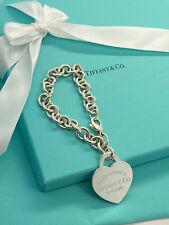 Tiffany & Co Sterling Silver Return to Tiffany XL Extra Large Heart Bracelet
