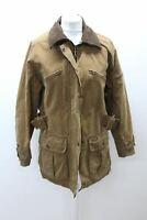 TOGGI HERITAGE Ladies Brown Collared Zip Front Long Sleeve Wax Jacket Size L