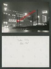 O. Photo Nuit Accueil Unité télévision radio scène de rue voitures Berlin-ouest 1961
