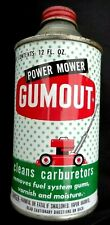Vintage GUMOUT Lawn Mower Carburetor Carb Cleaner Empty Cone Top Metal Oil Can