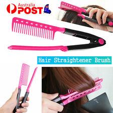 Hair Straightener V Comb Folding Styling Hairdressing Salon Straightening Brush