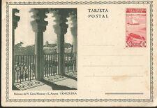 J) 1937 VENEZUELA, BOATS, BALCONIES OF THE N. CIRCUS, MARACAY-EN ARAGUA-VENEZUEL