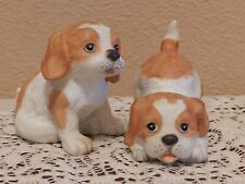 Homco Cocker Spaniel Puppies Porcelain Figurines #1407