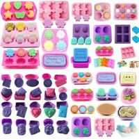 Silicone Soap Mold Candy Chocolate Cookies Baking Mold Ice Cube Tray Cake Decor