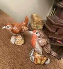 2 Royal Doulton Animals Bird Wren & Robin 2005