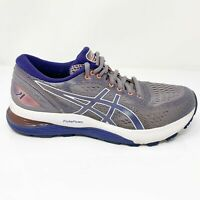 Asics Womens Gel Nimbus 21 1012A156 Gray Blue Running Shoes Lace Up Size 8