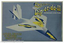 Amazing Dip-er-do-II Boomerang Stunt Plane -Single -Loops & Circles -Educational