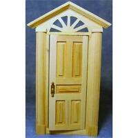Wooden Skylight Front Door 1:12 Scale by Dolls House Emporium 155 x 72mm