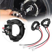 2x H7 LED Bulb Headlight Holder Adaptor Conversion Kit For VW Golf MK7 MK6 JETTA