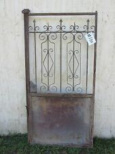 Antique Victorian Iron Gate Window Garden Fence Architectural Salvage Door #110