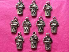 Tibetan Silver Secchio E Spade Charms - 10 Per Confezione-Vacanze/MARE Temi