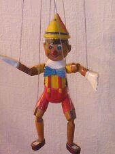 """Antico / Vintage Disney in legno realizzato a mano PINOCCHIO Giocattolo Burattino. 15 """"Tall."""