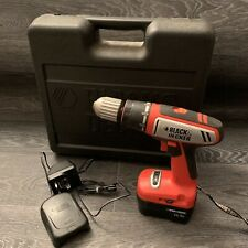 Black & Decker Cordless Drill, Battery & Charger • CP142 • 14.4v with Case