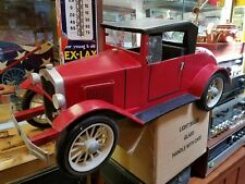 "Hand Made Folk Art Wood Tin Ford Car Coupe 36"" x 13"" VERY COOL!"