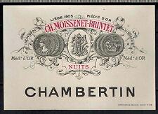 Etiquette de Vin - Bourgogne - Nuits - Chambertin - Moissenet-Brintet- Réf.n°245