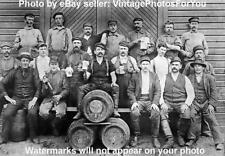 Old/Antique 1898 Seattle Wooden Keg/Beer Pale Lager Barrel Brewery Worker Photo