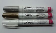 Sharpie Oil Paint Markers Gold Silver And White Marker Set Medium Tip