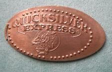 Quicksilver Express elongated penny Ca Usa cent Gilroy Gardens souvenir coin