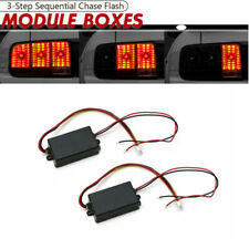 2 Universal Module Boxes w/3 Step Sequential Chase Flash Fits Turn Signal Light
