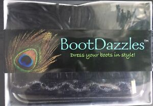 BOOT DAZZLES DRESS YOUR BOOTS - SET OF 2 - WESTERN LEATHER DESIGN-BOX-NEVER WORN