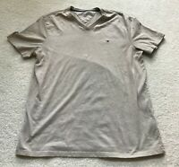 Tommy Hilfiger Shirt Mens Size Sz M Short Sleeve Top Tee T-Shirt Taupe Tana