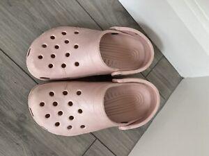 Ladies Light Pale Pink Crocs Size 6